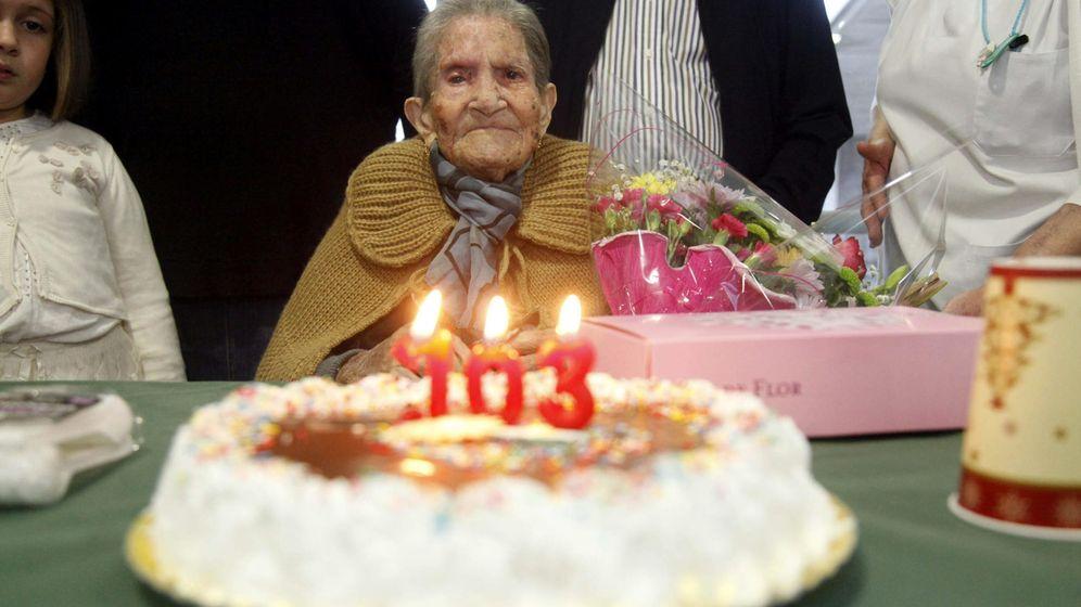 Foto: Una española que acaba de cumplir 103 años. Foto: EFE/Fermín Cabanillas