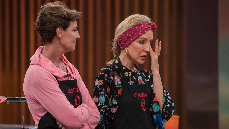Carmen Lomana al ser expulsada de 'MasterChef Celebrity'. (RTVE)