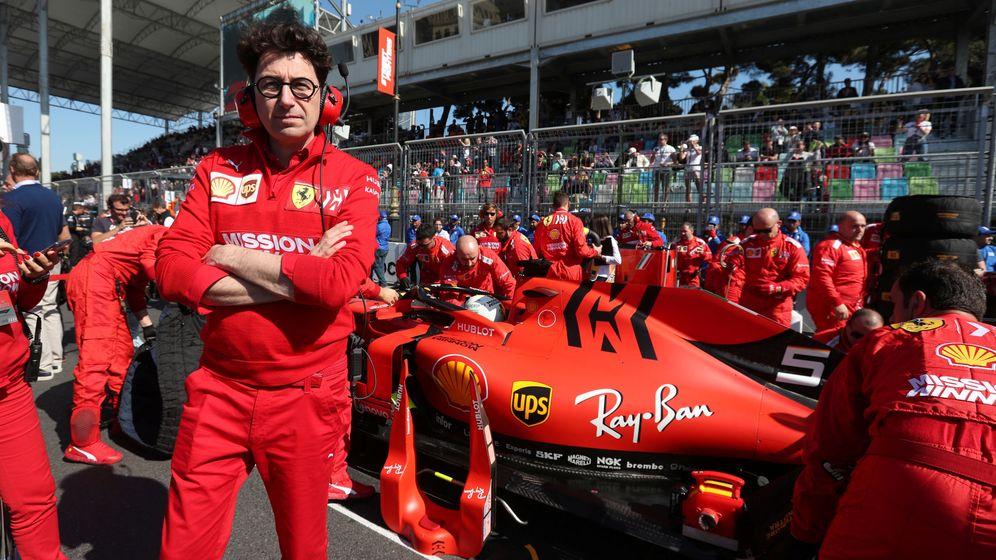 Foto: Mattia Binotto y Ferrari afrontan la contraofensiva de los equipos al cierre de la FIA de la investigación de sus unidades de potencia (REUTERS)