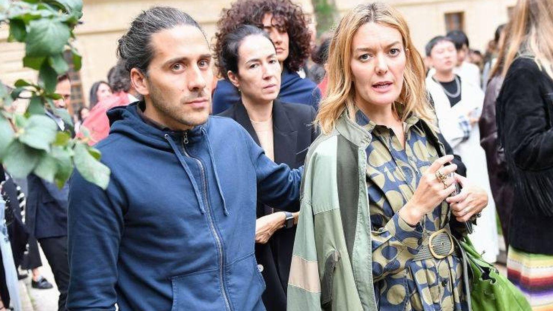Marta Ortega y Carlos Torretta acudiendo al desfile de Valentino en París. (Getty)