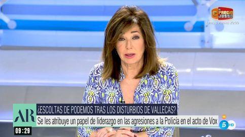 Ana Rosa destroza a Pablo Iglesias: Instiga la violencia en los mítines