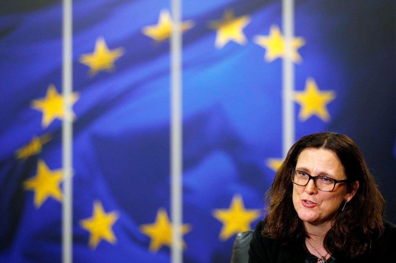 Foto: La comisaria europea de comercio Cecilia Malmstrom en Bruselas. (Reuters)