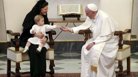 El tierno encuentro entre Leonore de Suecia y el Papa Francisco