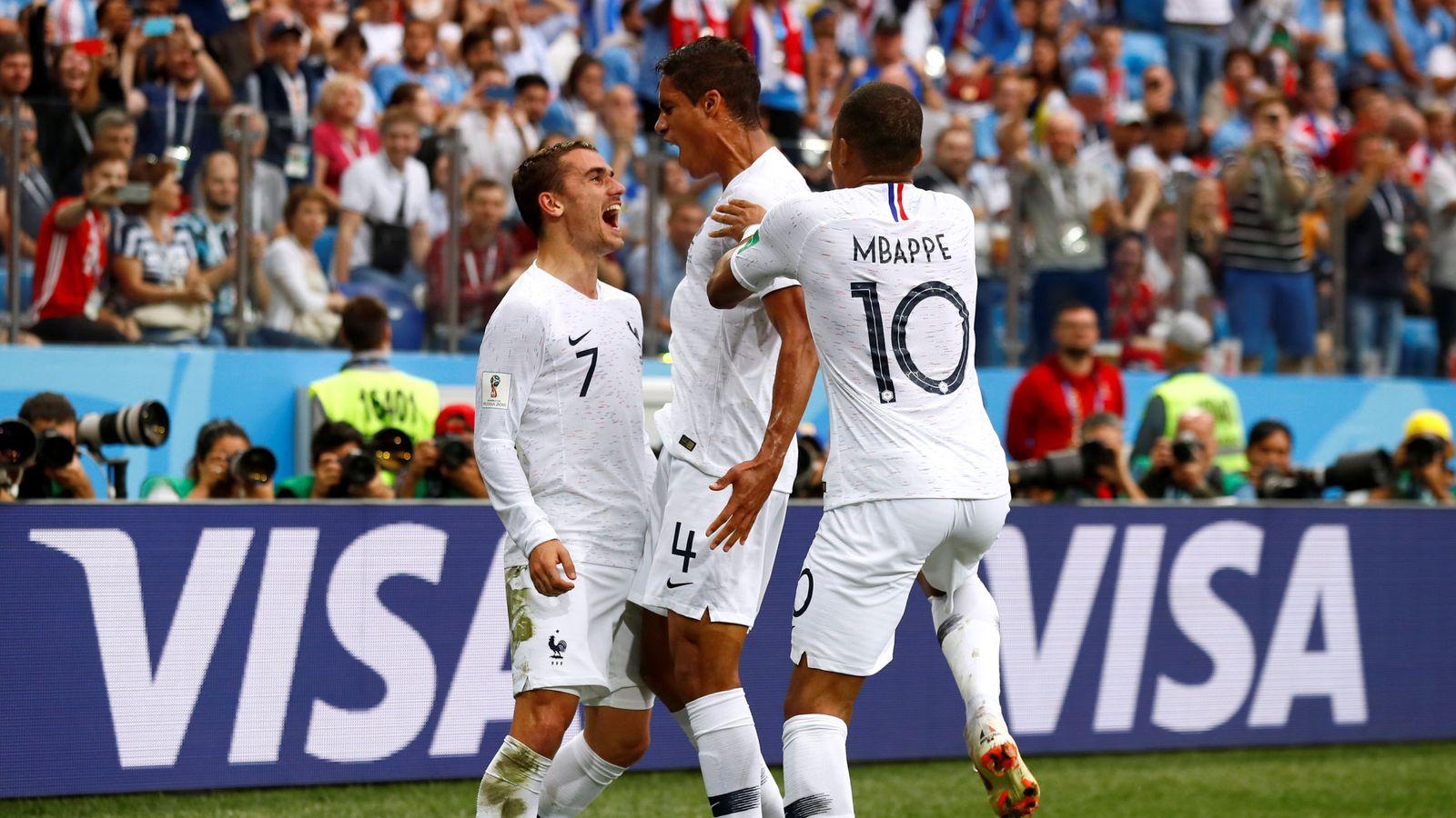 Foto: Griezmann, Varane y Mbappé. (Reuters)