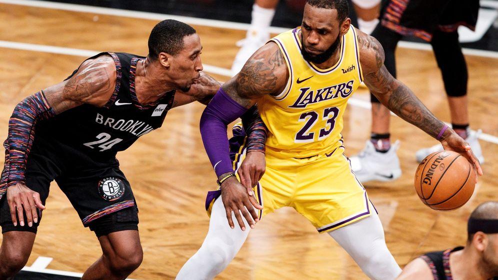 Foto: Los Brooklyn Nets ante Los Angeles Lakers. (EFE)