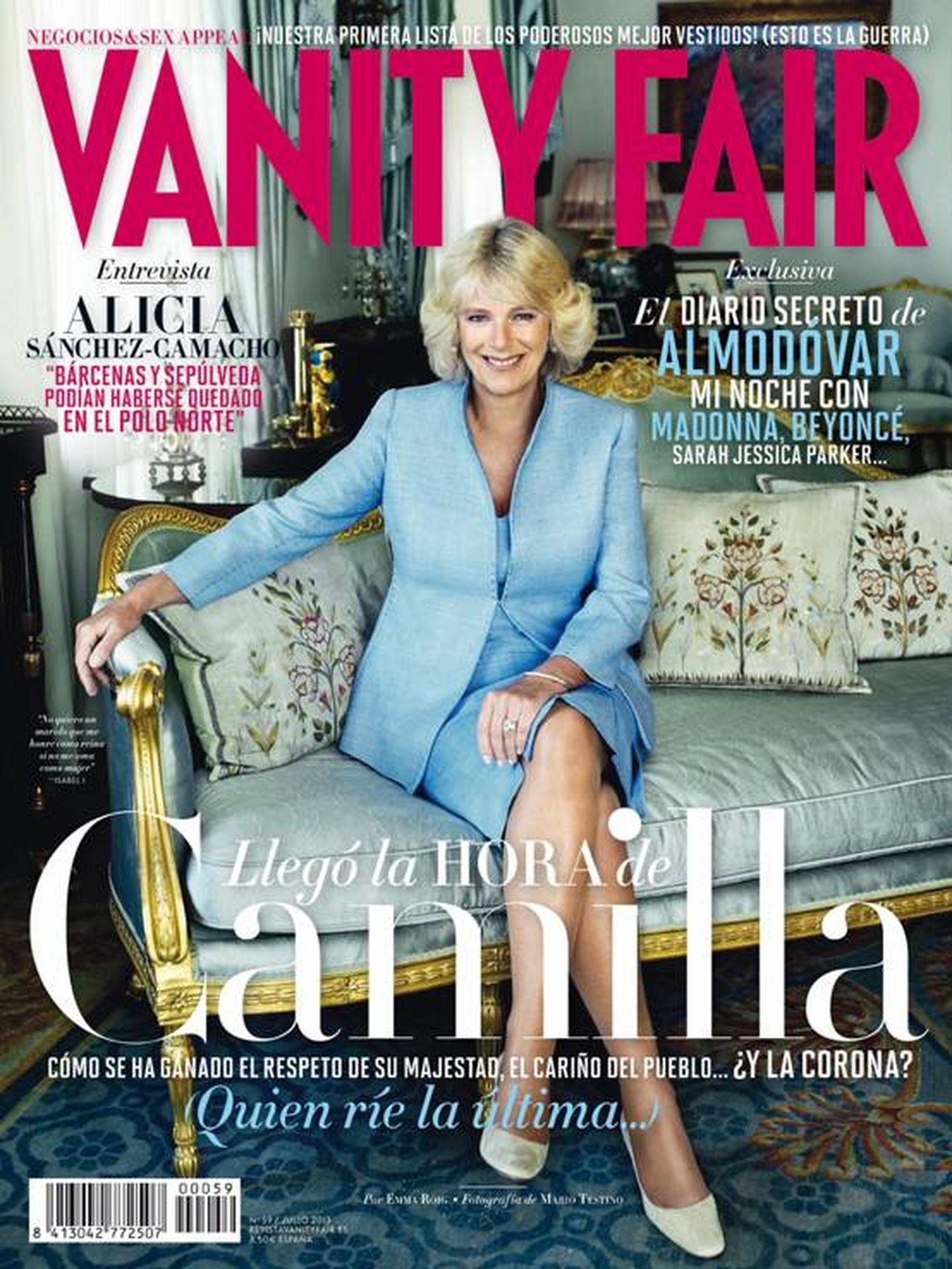 Camilla Parker Bowles para 'Vanity Fair'.