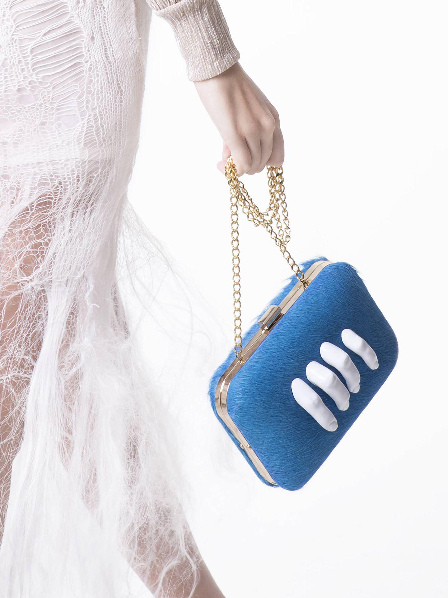 Así son los originales bolsos de Carla López. (Cortesía)