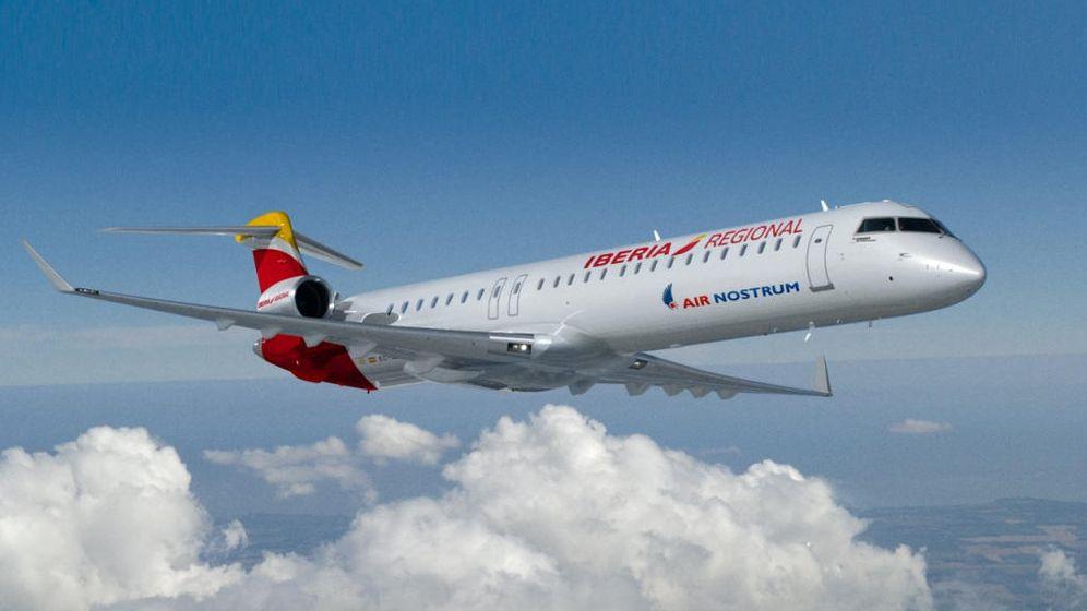 Foto: Uno de los Bombardier de Air Nostrum. (AN)