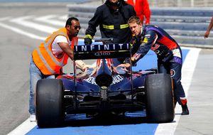 Red Bull, de mal en peor: en el penúltimo día no da ni una vuelta
