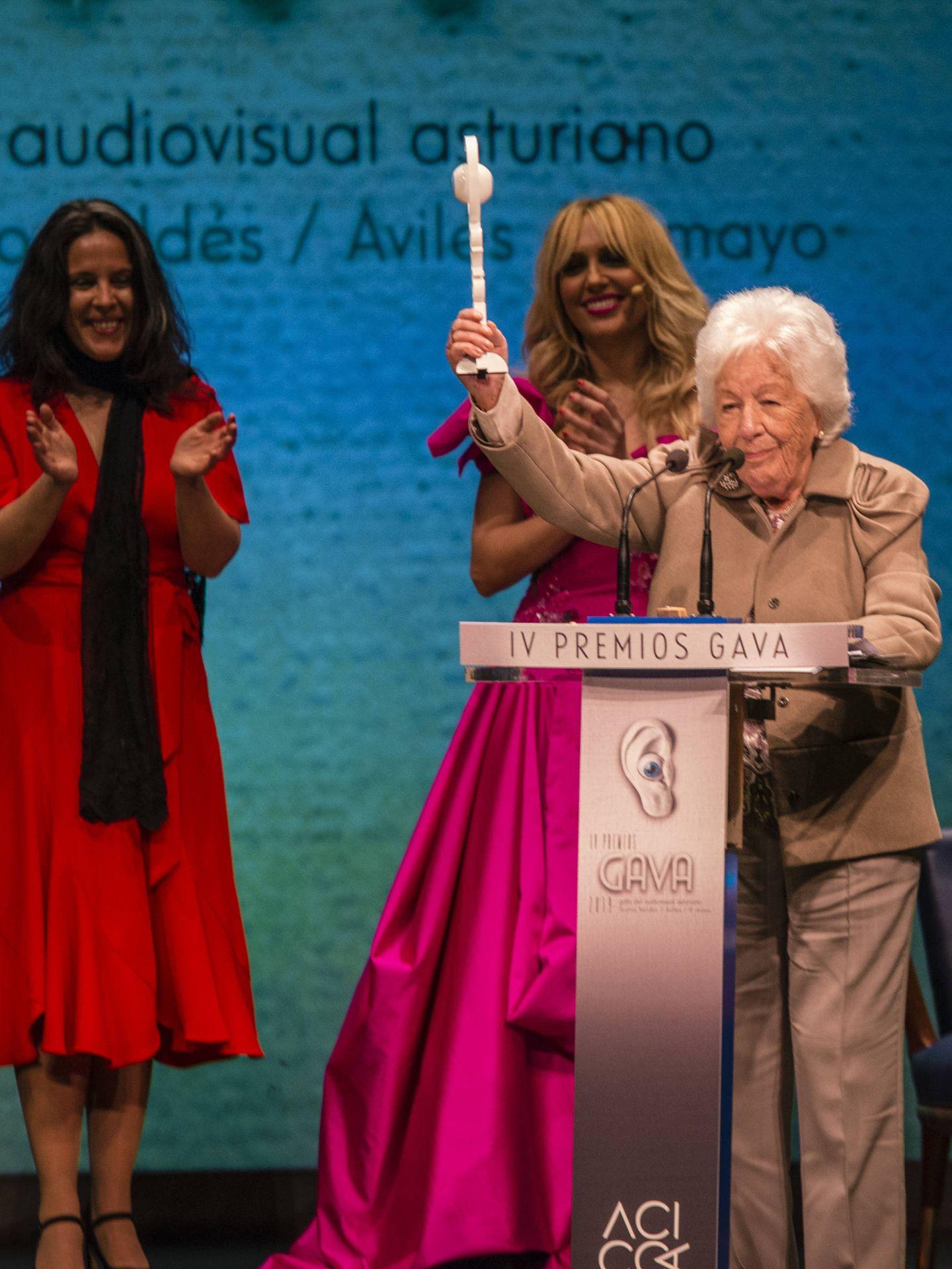 Menchu Álvarez, recogiendo el premio Gavá el pasado mayo. (Lagencia Grosby)