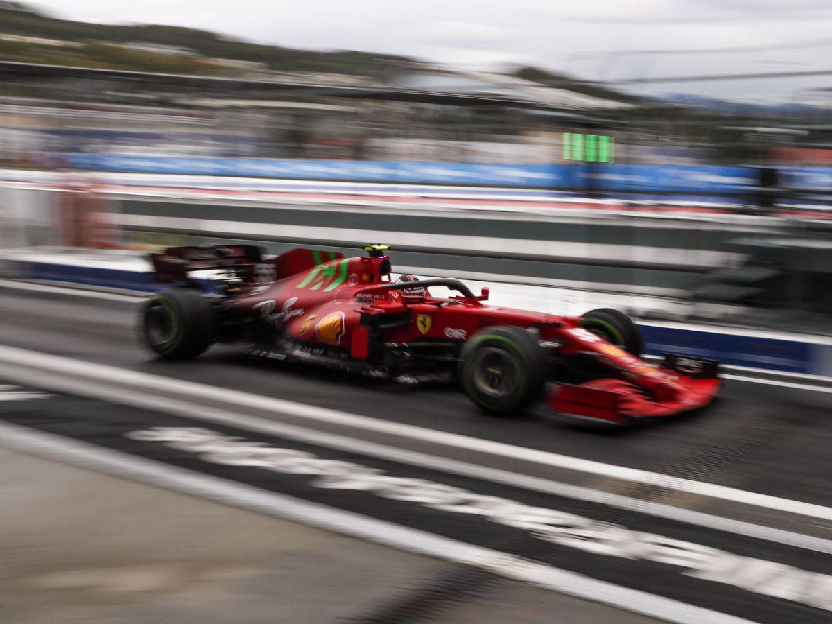 Foto: Sainz en su último intento de clasificación.