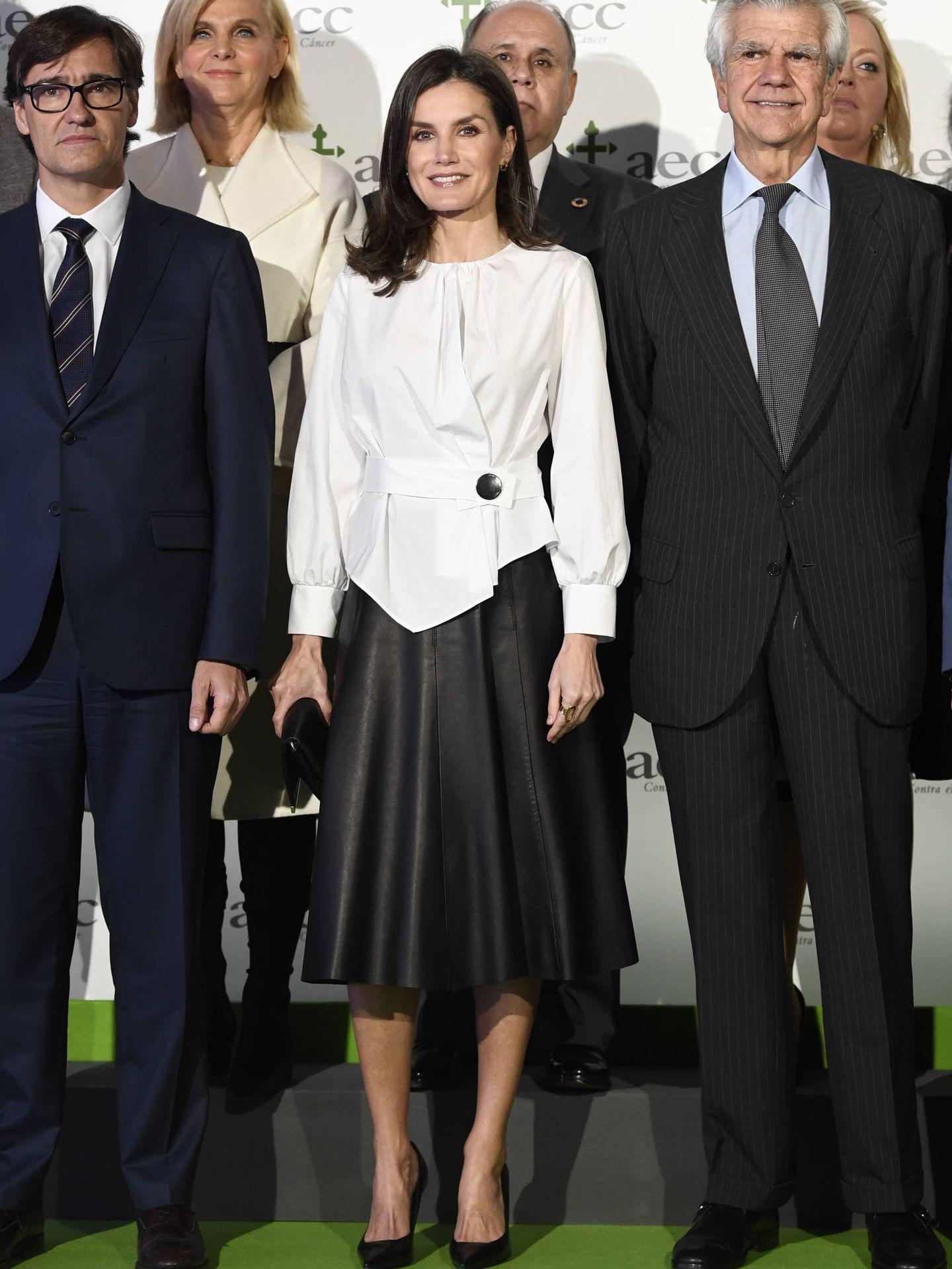 La reina Letizia, este martes en el IX Foro contra el Cáncer. (Limited Pictures)
