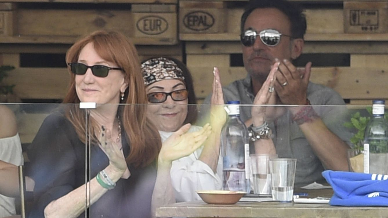 Foto: Bruce Springsteen durante la competición de su hija Jessica (Gtres)