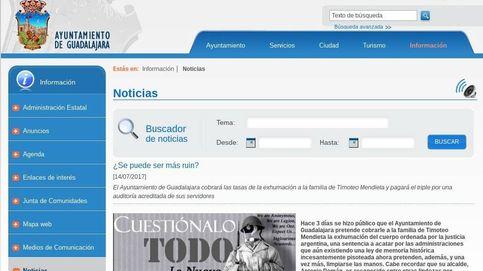 Hackean' al Ayuntamiento de Guadalajara por cobrar la exhumación de Mendieta