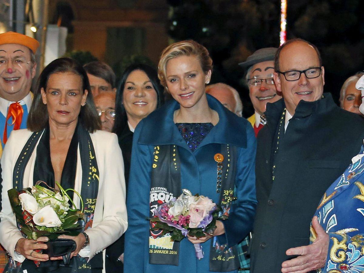 Foto: Estefanía y Charlène de Mónaco, en una imagen de archivo. (EFE)