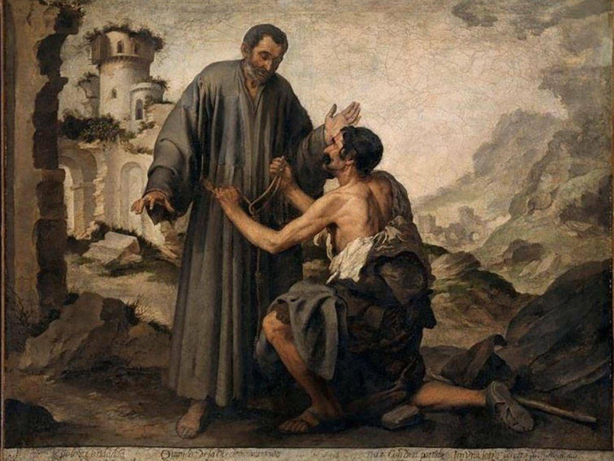 Foto: 'Fray junípero y el pobre' de Bartolomé Esteban Murillo
