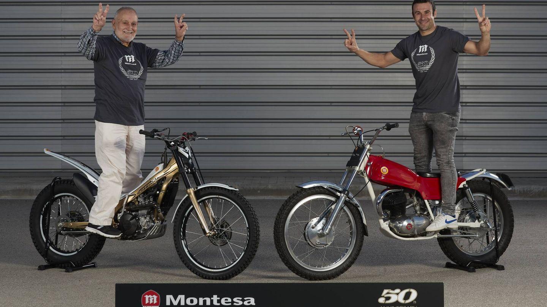 Pere Pi (i) con la Cota 50ª aniversario y Toni Bou con la Cota 247.