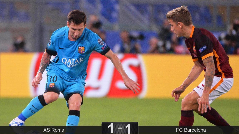 Foto: Florenzi sorprende a Ter Stegen y la Roma le birla dos puntos al Barça