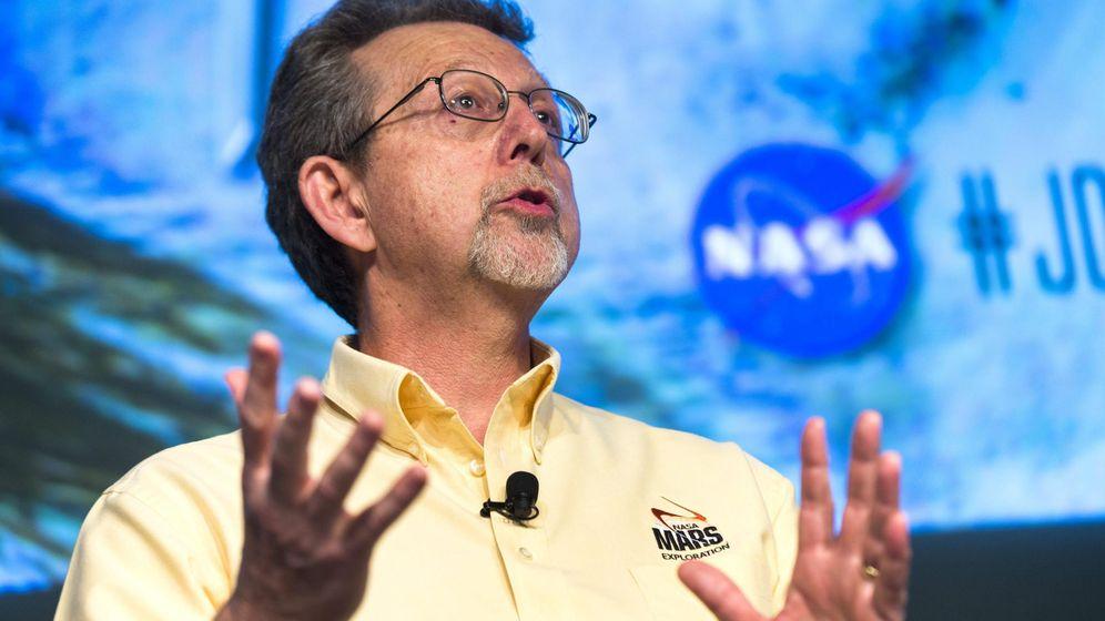 Foto:  El director de Ciencia Planetaria en la NASA, Jim Green, en una rueda de prensa. Foto: EFE/Jim Lo Scalzo