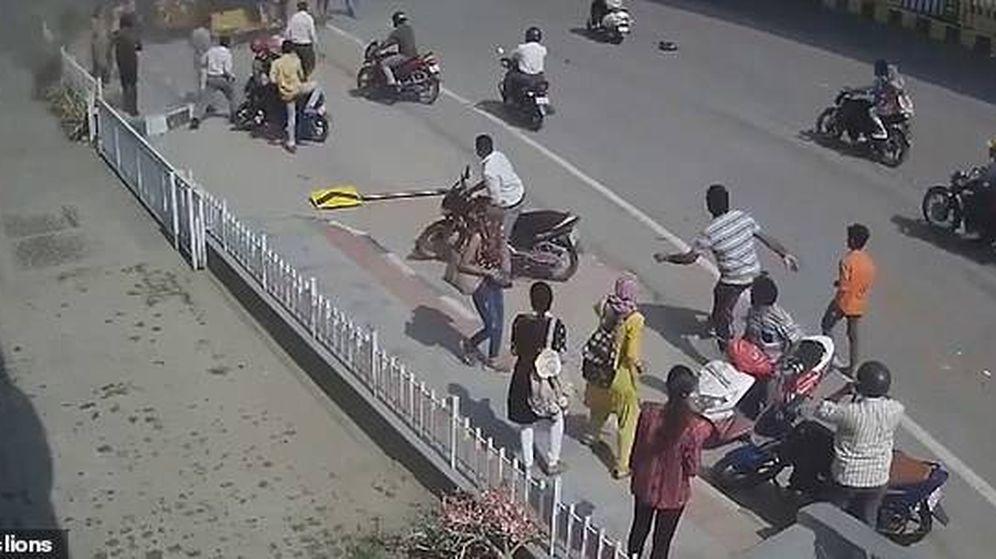 Foto: Captura de vídeo del instante posterior al accidente.