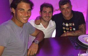 La cena de amigos de Casillas, Nadal y Alejandro Sanz