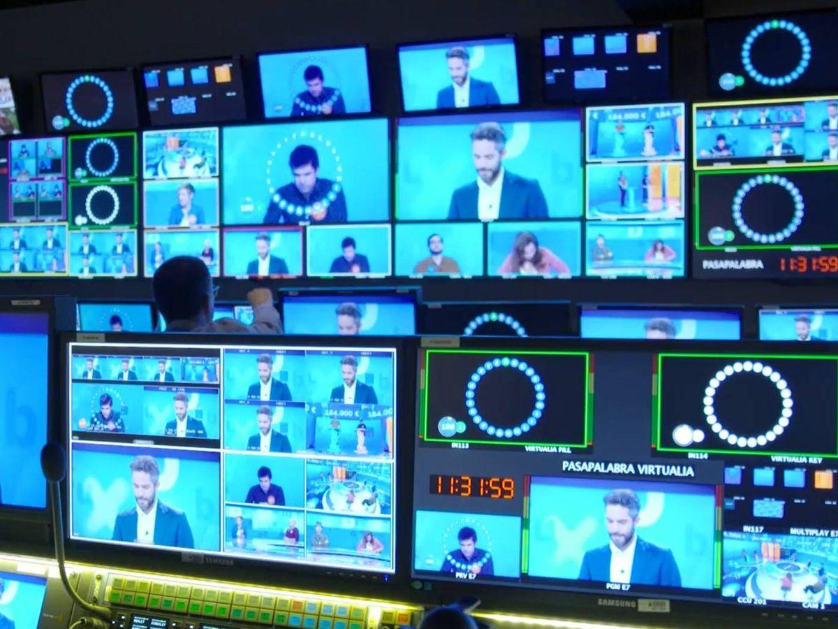 Foto: Control de realización de 'Pasapalabra'. (Atresmedia)