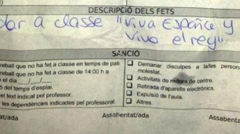 Una profesora de catalán amonesta a un niño por decir ¡Viva España, viva el Rey!
