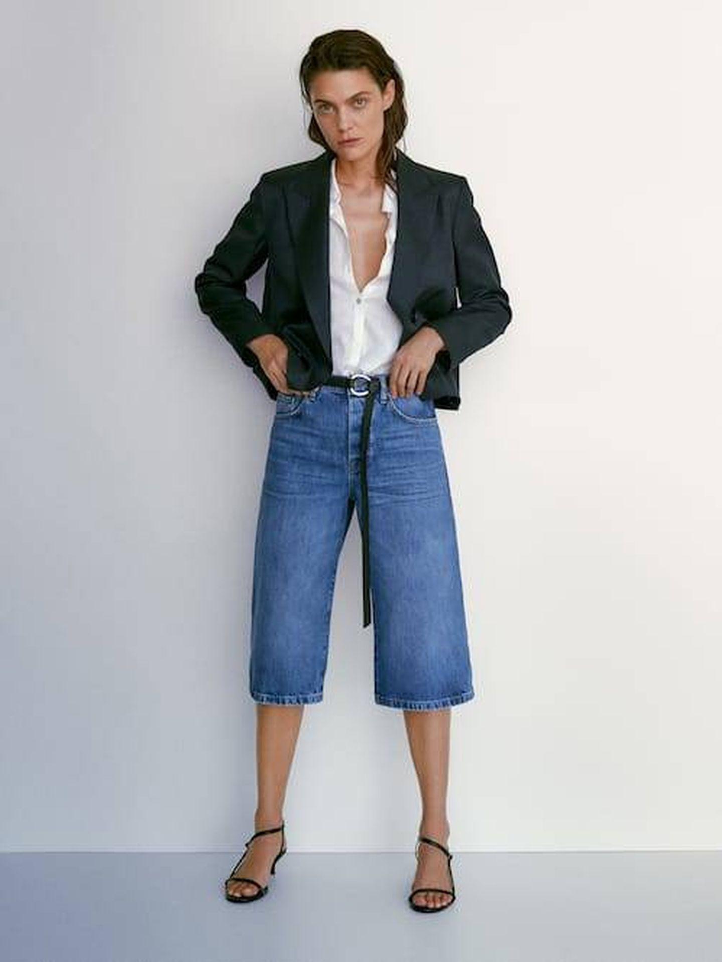 La nueva falda pantalón de Massimo Dutti. (Cortesía)