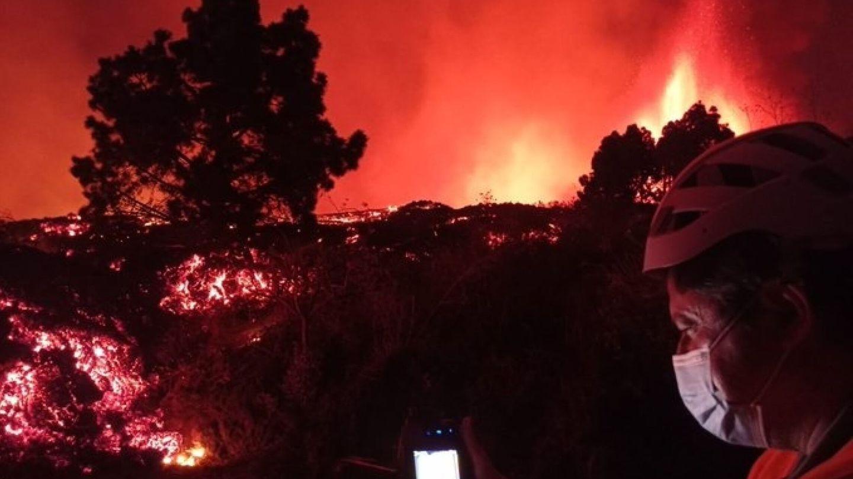 Lava en La Palma. (EFE)