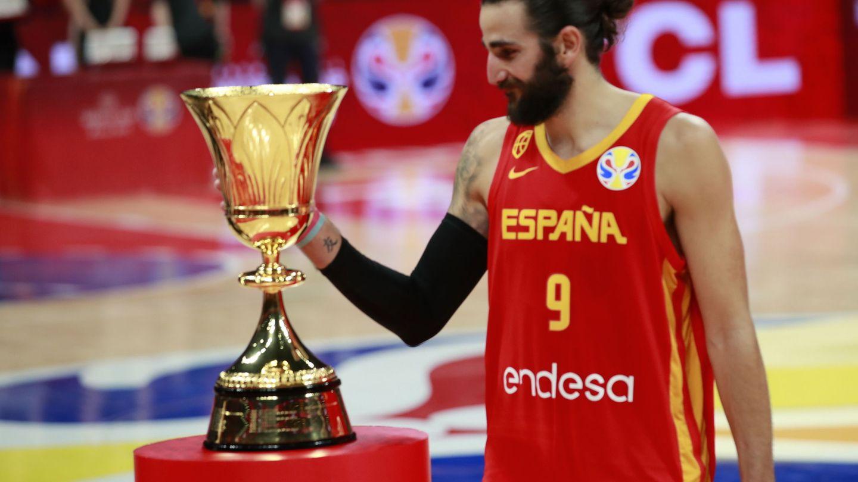 Ricky Rubio fue elegido 'MVP' del Mundial. (EFE)