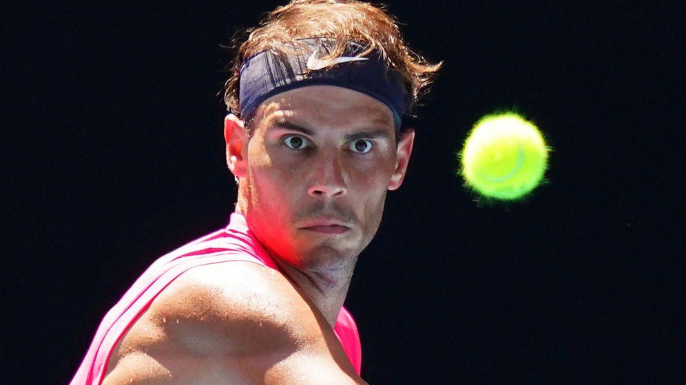 Foto: Rafa Nadal durante su debut en el Open de Australia. (EFE)