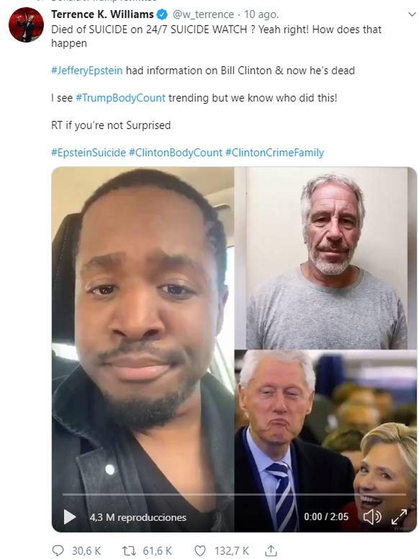 Captura de pantalla del tuit compartido por Trump.