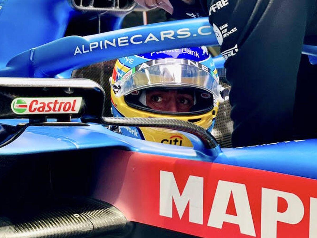 Foto: Fernando Alonso logró una inesperada sexta plaza que le dejó satisfecho por su progresión en asfalto mojado