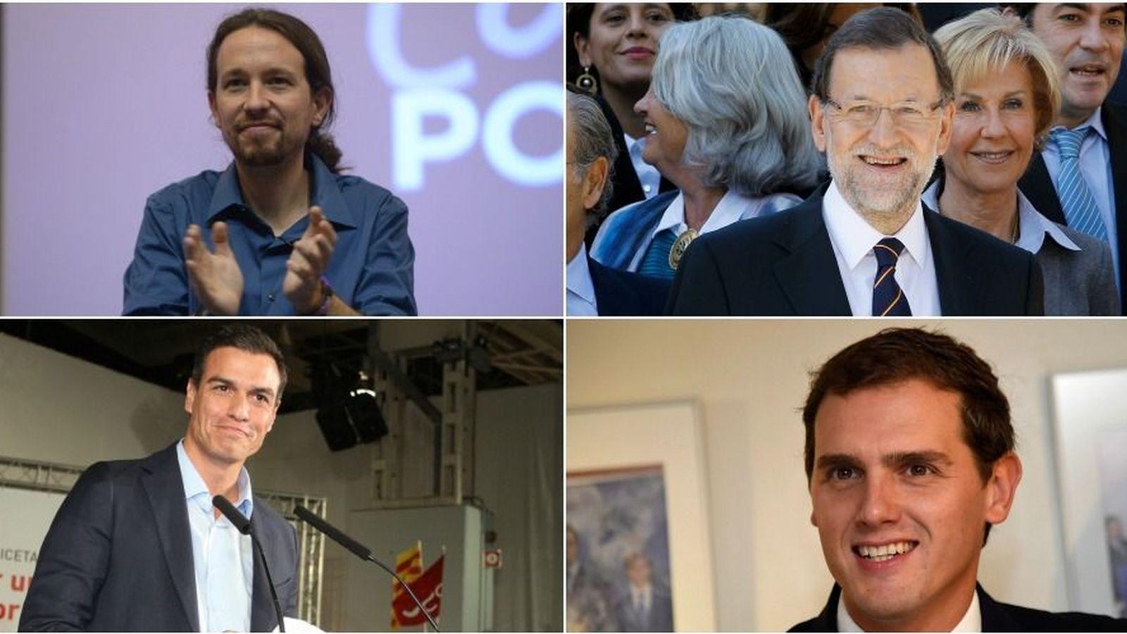 Foto: Pablo Iglesias, Mariano Rajoy, Pedro Sánchez y Albert Rivera. (Gtres)