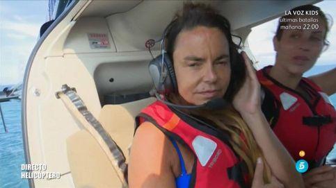 La mala caída de Leticia Sabater al saltar del helicóptero en el estreno de 'SV 2017'