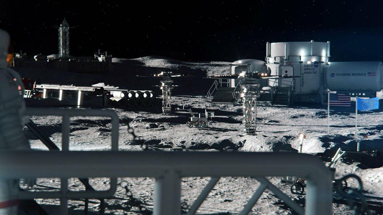 Una posible base lunar que usa energía nuclear (Rolls Royce)