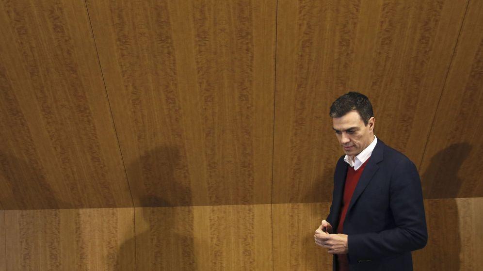 Foto: Pedro Sánchez, el pasado 9 de febrero, antes de su encuentro con la comunidad educativa en Madrid. (EFE)