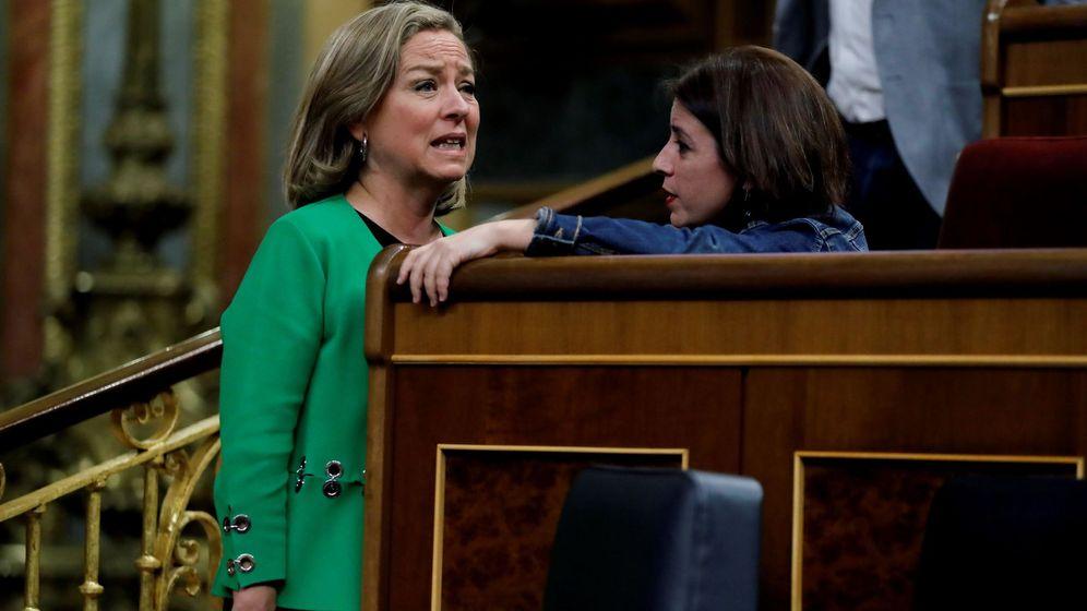 Foto: Ana Oramas (Coalición Canaria) y Adriana Lastra (PSOE). (EFE)