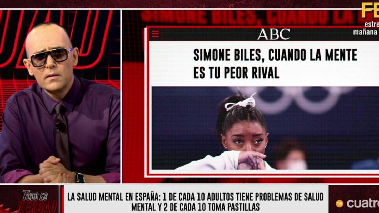Risto Mejide hablando sobre Simone Biles. (Cuatro).