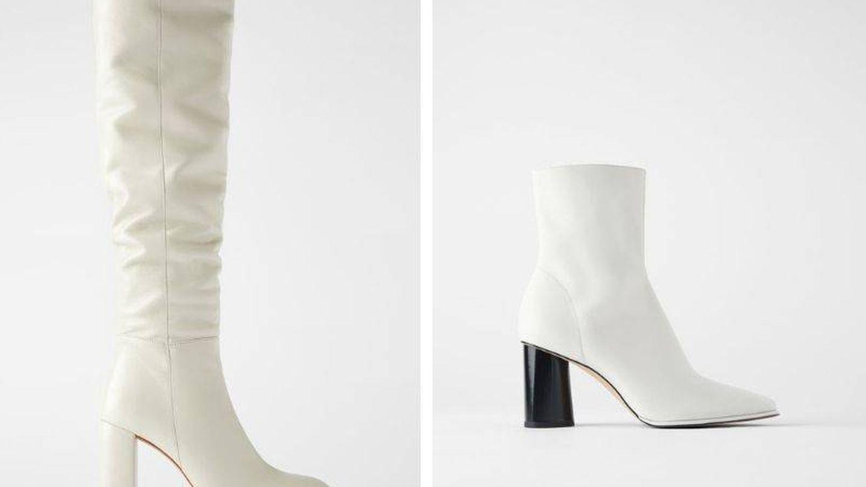 Las botas blancas de piel son sencillamente ideales. (Cortesía)
