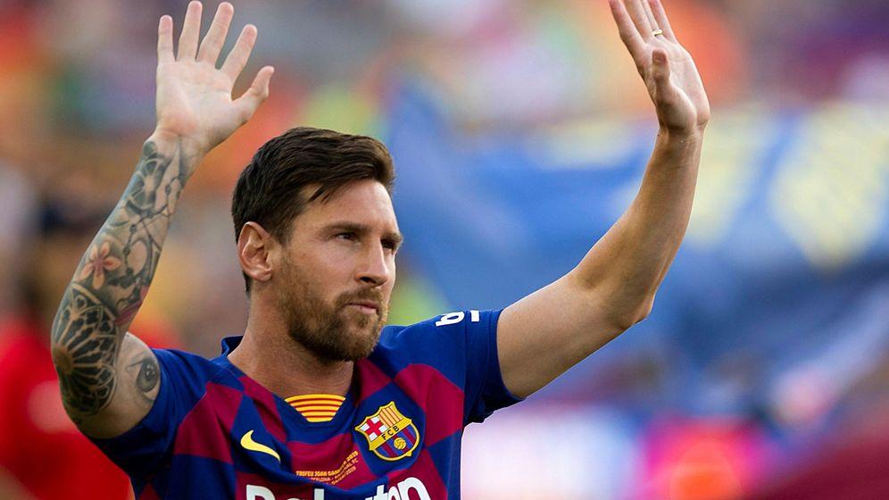 Foto: Lionel Messi en el Camp Nou (EFE)