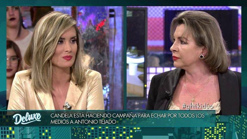 Foto: Candela y María José, en 'Sábado Deluxe'. (Telecinco).