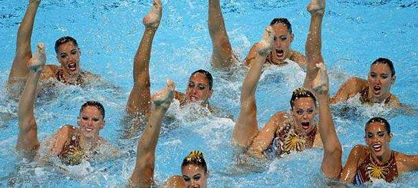 Foto: El equipo español, durante el ejercicio