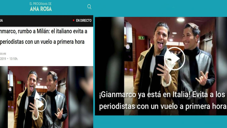 Noticias publicadas en la web de 'El preograma de AR', en Telecinco. (Mediaset)