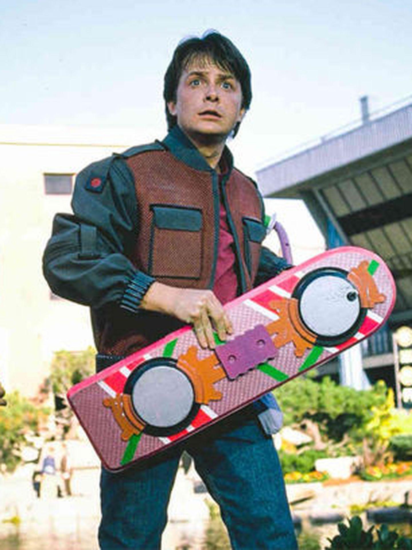 Marty McFly volaba con este patinete en 'Regreso al futuro'