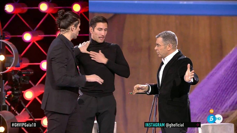 Luca, Gianmarco y Jorge Javier, en 'GH VIP 7'. (Telecinco)