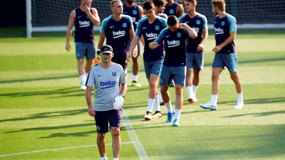 Foto: Valverde, en un entrenamiento reciente. (EFE)