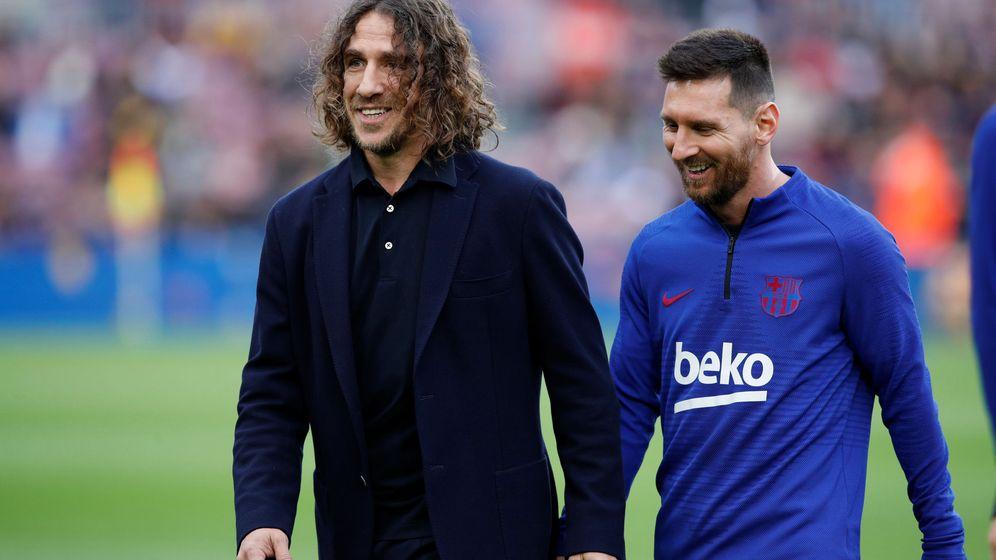 Foto: Carles Puyol y Leo Messi, en una imagen de archivo. (EFE)