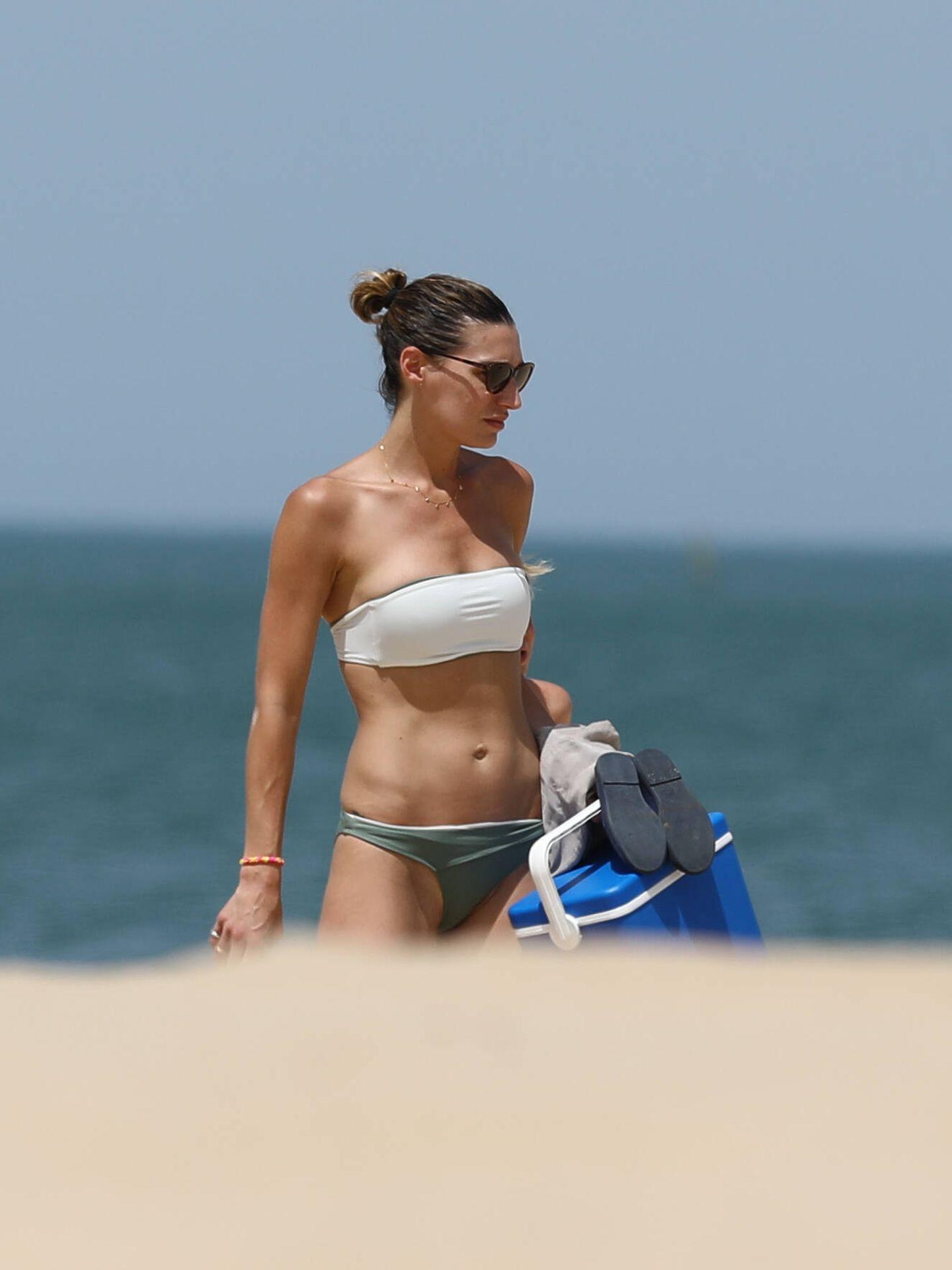 Eugenia Osborne, en la playa del Buzo.  (Clipper)