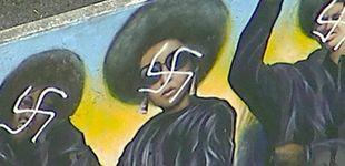 Post de Destrozan con esvásticas un mural de los Panteras Negras en Los Ángeles